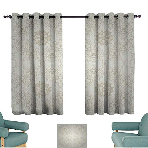 Warm Family Bedroom Balcony Living Room Curtain Background Retro Vintage Wallpaper Darkening and Thermal Insulating ()