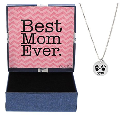 Mother's Day Gift from Daughter Best Mom Ever Necklace Gift Love Children's Handprints Mothers Day Gift Idea Jewelry