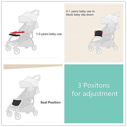 Stroller Footrest 6.5 inch longer Accessories for Baby stroller /Yoyo/Yoya /Babytime/ VOVO /Babythrone /Feet Extension Infant Pram Foot board (Black) by Karleksliv (Image #4)