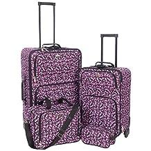 Jetstream Lightweight 4 Piece Fashion Luggage Set Including Travel Kit