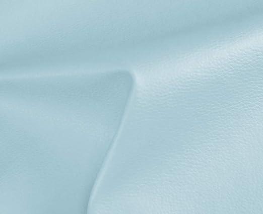 1 Metro de Polipiel para tapizar, Manualidades, Cojines o forrar Objetos. Venta de Polipiel por Metros. Diseño Solar Color Azul Claro Ancho 140cm