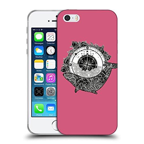 GoGoMobile Coque de Protection TPU Silicone Case pour // Q07630614 Boussole antique 1 Rougir // Apple iPhone 5 5S 5G SE