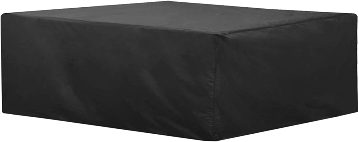 JJCKHE Patio Furniture Cover, 420D Waterproof Anti-UV Outdoor Furniture Sectional Cover, Rectangular Patio Table and Chairs Set Cover 78'' x 62'' x 27'' Black