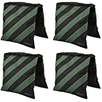 IMORDEN Saddlebag sand bags(4 packs) Heavy Empty Sand bags Holds 20lb for Photography VIDEO STUDIO STAND, Light Stand, Tripod and Jib Arm Mini Camera Crane