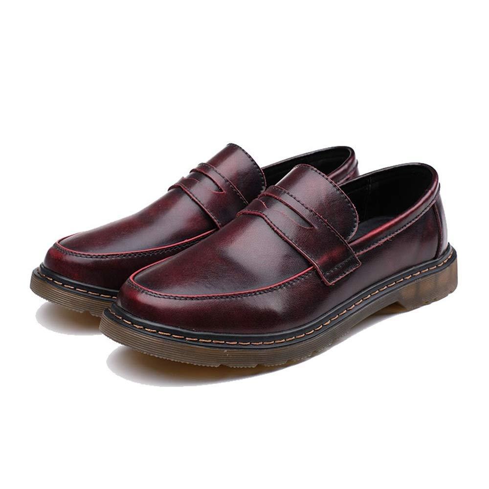 FuweiEncore FuweiEncore FuweiEncore 2018 Herrenmode Oxford Schuhe, Casual Bequeme Cover Feet Runde Zehe One Foot Pedal Workwear Schuhe (Farbe   Rot, Größe   42 EU) (Farbe   Wie Gezeigt, Größe   Einheitsgröße) d110b3
