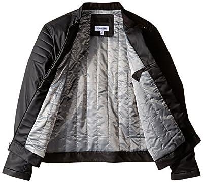 Calvin Klein Men's Faux Leather Textured Jacket