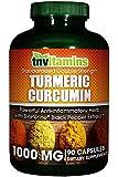 TNVitamins Turmeric Curcumin 1000 Mg with Black Pepper (90 Capsules)