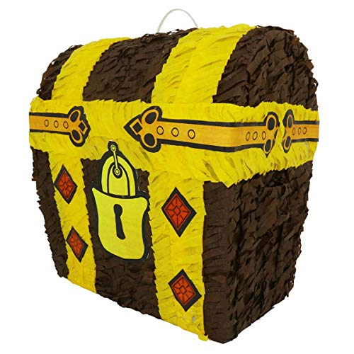 Lytio Loot Treasure Chest Pinata Ideal for Gaming, Kids Birthday Parties also Functions as a (Piñata) Center Piece or Photo Prop