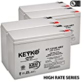 12V 10Ah / REAL 10.5 Amp Deep Cycle - 4 Pack -Battery AGM / SLA Designed for Wheelchairs Scooters & Mobility - Genuine KEYKO - F2 Terminal