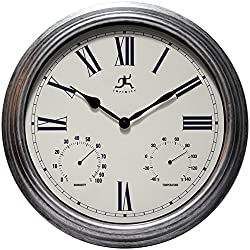 Infinity Instruments Rustic Outdoor 16 Wall Clock