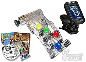 Chord Buddy Guitar Learning System with Clip-on Chromatic Tuner