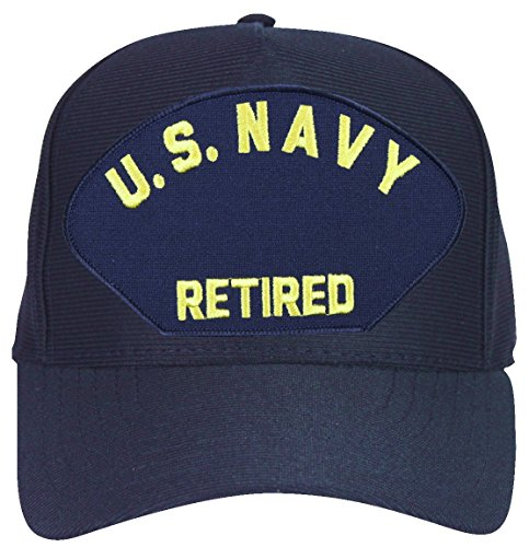 MilitaryBest U. S. Navy Retired (Letters Only) Ball Cap with Custom Back Text - Letters Only Ball Cap
