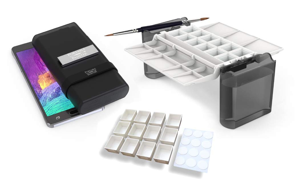 Portable Painter Pro Bundle   Watercolor Palette with Extra Set of Half-Pans   Travel - Pocket Size - Quality   Simplify Your Life by Portable Painter