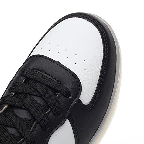 Idée Cadres Enfant Garçon Fille Usb Charge Multicolore Led Lumière Sneakers Noir / Blanc