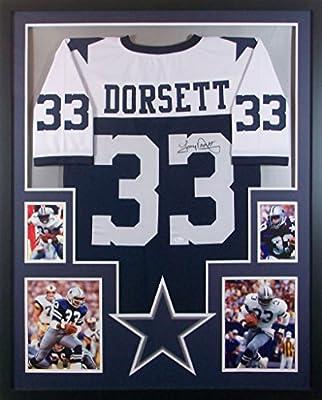 Tony Dorsett Dallas Cowboys Autograph Signed Custom Framed Jersey JSA  Witnessed Certified 9718d2535