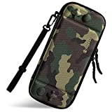 Ultra Slim Carrying Case Fit for Nintendo Switch, tomtoc Original Patent Portable Hard Shell Travel Case Pouch Protective Cover Bag, 10 Game Cartridges, Military Level Protection, Camouflage