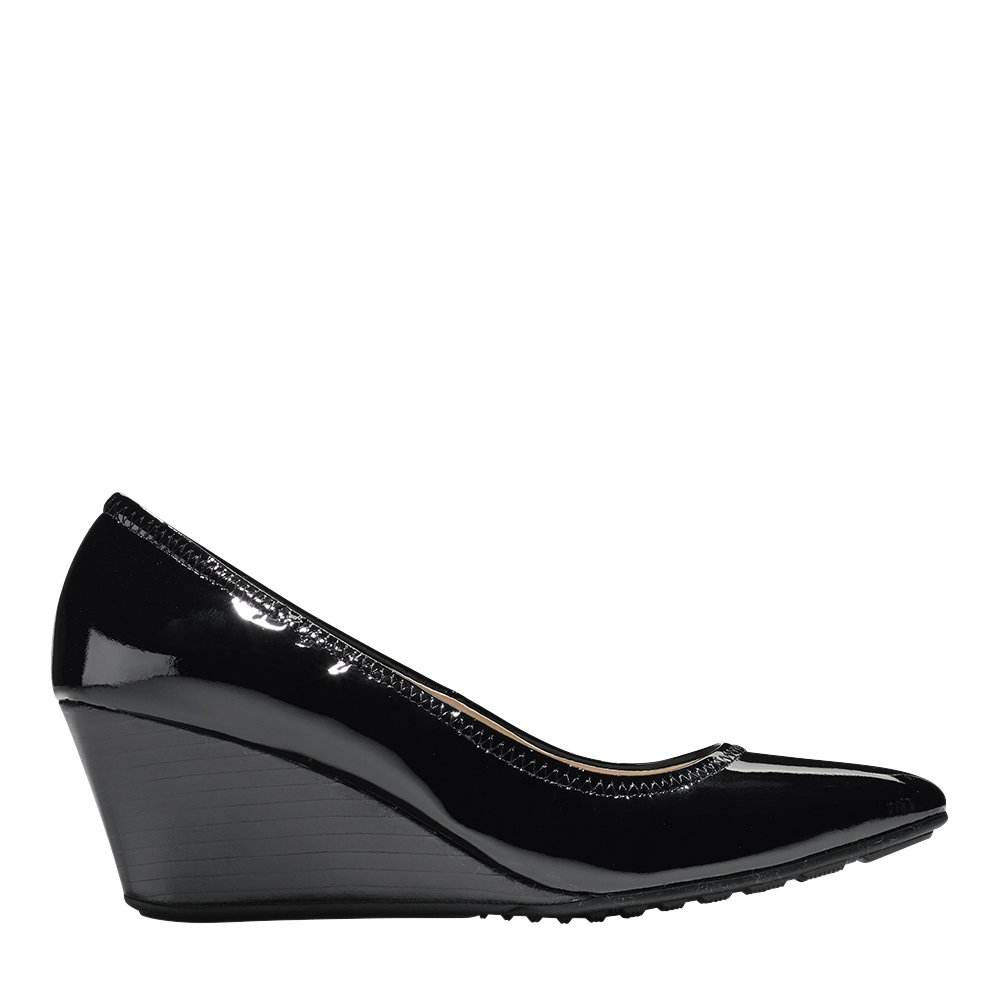 Cole Haan Womens Emory Luxe Wedge 65mm 6.5 Black Patent by Cole Haan (Image #2)
