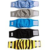 JoyDaog Reusable Belly Bands for Dogs,(5 Pack) Washable Dog Diapers...