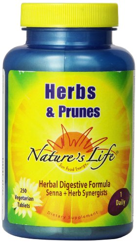Nature's Life Herbs and Prunes Veg Tablets, 250 Count
