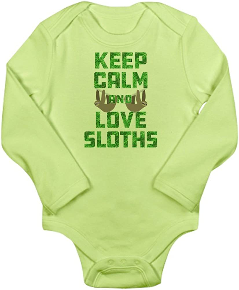 CafePress Keep Calm and Love Slo Cute Long Sleeve Infant Bodysuit Baby Romper