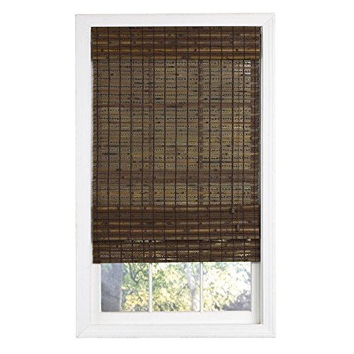 Lewis hyman 0215488 havana bamboo roman shade 27 inch for Roman shades for wide windows