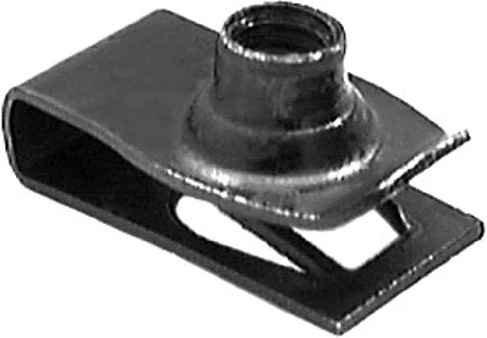 Compatible with GM and Ford Clipsandfasteners Inc 25 Extruded U Nuts M8-1.25 Screw Size