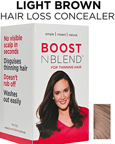 BOOSTnBLEND LIGHT BROWN Hair Loss Concealer for Women with Hair Loss. Covers up Visible Scalp for Women with Visible Thinning Hair 22g/0.78oz