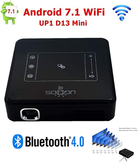 Proyector de Navidad, Proyector DLP con Smart Touchpad Android ...