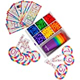 Mara's Box Counting, Math Learning, Shape and Color Sorting Set - Includes Colored Cups, Activity Cards, and Manipulatives for Toddlers that Can also Be Used as Building Blocks