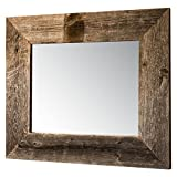 Drakestone Designs Mirror with Barnwood Frame | Wall Mount | Handmade Rustic Reclaimed Wood | 17 x 20 Inches (Natural) For Sale