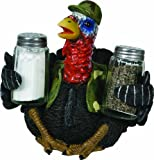 Unleash some fun at flare at your next mealtime with the River's Edge Salt and Pepper Shaker Sets. The uniquely designed and hand painted poly resin spice holders are a true treat for any outdoor, animal, or hunting enthusiast. Each set inclu...
