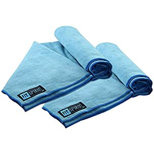 FIT SPIRIT Microfiber Bath Sport Towels, 2 Pack