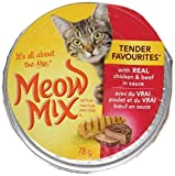 Meow Mix Tender Favourites Chicken & Beef Cat Food 78g (24 pack)