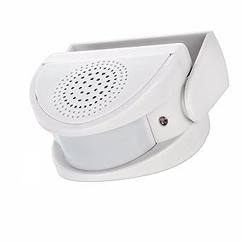 Detector de movimiento, Domowin PIR Alarma Sensor de Movimientos Alarma de seguridad Timbre de Puerta