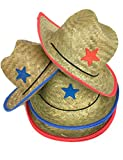 Childrens Cowboy Hat With Sheriff Star (1 DOZEN PACK) - BULK