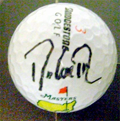 Davis Love III autographed Masters golf ball (PGA UNC University North Carolina Tarheels) with free display cube