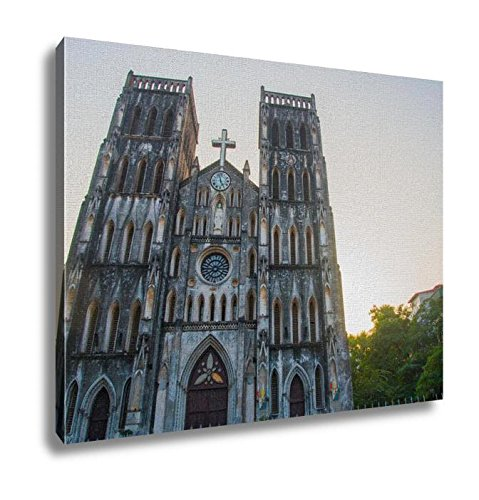 Ashley Canvas The Catholic Cathedral In Vietnam Wall Art Decoration Picture Painting Photo Photograph Poster Artworks, 20x25 by Ashley Canvas