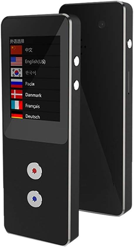 138の言語、13.3 * 3.6 * 1.1センチメートル(黒)と互換性の双方向翻訳デバイス、タッチスクリーン2.4インチワイヤレス接続WIFIリアルタイム翻訳