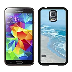 Slim Samsung Galaxy S5 Case Durable Soft Rubber Black Cell Phone Back Cover Beautiful Beaches Coastline