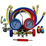SUNWIN R134A R22 536G Manifold Gauge Dual-use Air Conditioner Refrigeration Freon Kit