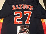 Jose Altuve Autographed Signed Houston Astros Jersey GTSM Altuve Hologram & COA Card W/Photo Of Signing