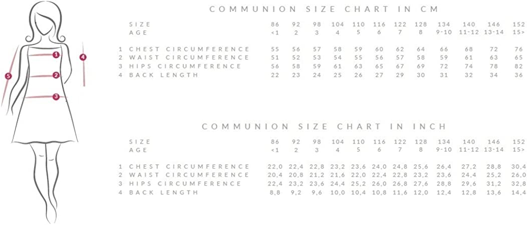 Communion Robe Communion Communion Robe Bolero Taille 104-158