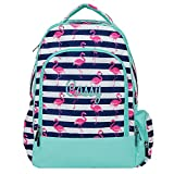 Pink Flamingo Full Sized Laptop School Backpack (Personalized)