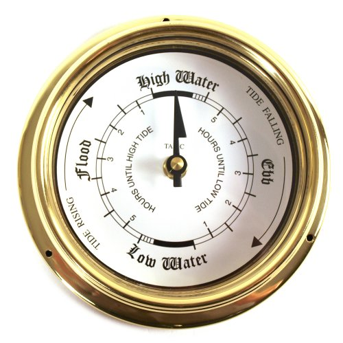 Tabic Classic Tide Clock Stunning Brass Accurate Times Id...