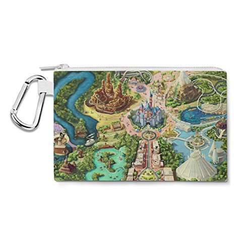 Disneyland Colorful Map Canvas Zip Pouch - 3XL Canvas Pouch