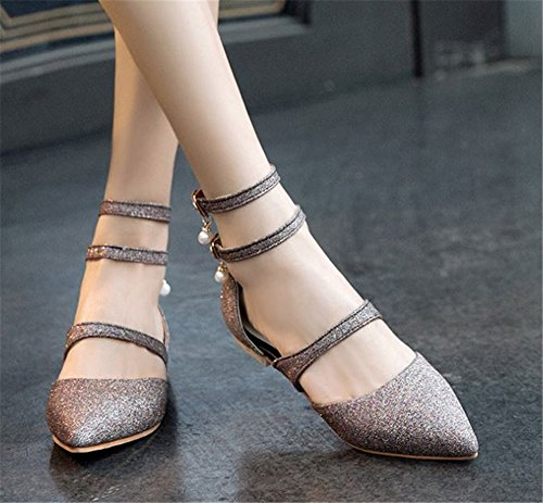 Toe Women Pointy Walking Slip for Believed Heel Daily On Shoes Office Flats Purple Low 5B7nqw
