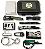 Felbridge Green Outdoor Emergency Survival Kit 12 in 1 with Plier Tool Set & Paracord Bracelet. for Camping, Disaster preparedness, bushcraft and Your Adventures in The Wilderness.