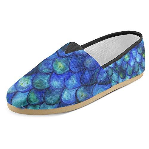 Mocassini Da Donna Di Interestprint Classico Su Tela Casual Slip On Fashion Shoes Sneakers Flat Multi 6