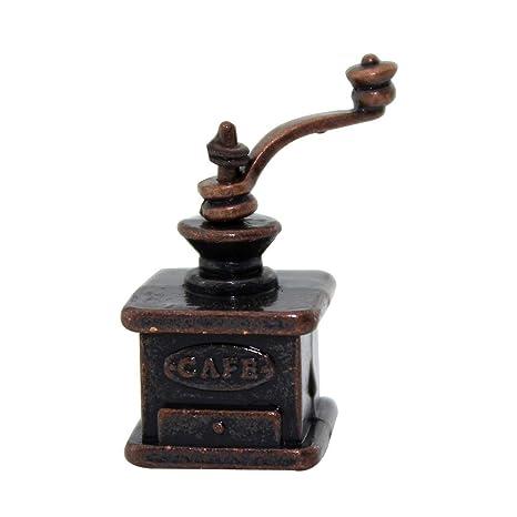 qingsb 1:12 1:6 - Máquina de moler de café en Miniatura para