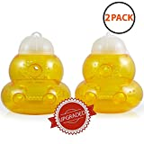 Aspectek Trap for Bees, Wasps, Hornets, Yellow Jackets, Cover 5000sq ft, Reusable (Pack of 2)